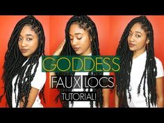 Here's How You Can Install Super Long Goddess Faux Locs On Any Hair Type - Black Women's Natural Hair Styles - A.A.H.V