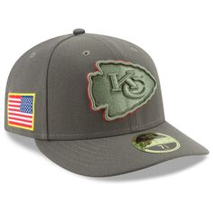 5995b24ce Men s New Era Olive Kansas City Chiefs 2017 Salute To Service Low Profile  59FIFTY Fitted Hat