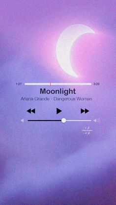 Ariana Grande Lyric Moonlight Lockscreen/Wallpaper