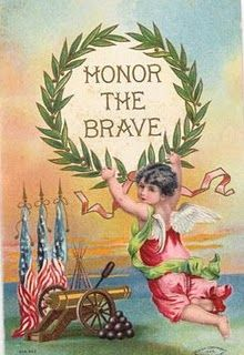 It's not necessarily traditional to send cards to US military veterans for Memorial Day or Veterans Day, but there's no reason not to start that tradition right now using these patriotic vintage post cards. Free Veterans Day, Veterans Memorial Day, Memorial Day Flag, Veterans Day Activities, Vintage Holiday, Vintage Halloween, Vintage Witch, Vintage Cards, Vintage Postcards