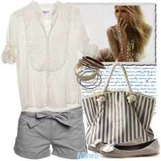 """""""Blondie In Grey"""" by minni on Polyvore"""