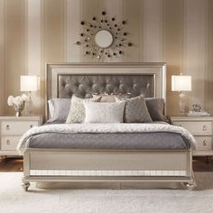 Diva Bedroom Decor parts can add a contact of style and design to any residence. Diva Bedroom Decor can mean many issues to many individuals… Discount Bedroom Furniture, Bedroom Furniture Sets, Home Decor Bedroom, Glam Bedroom, Royal Furniture, White Furniture, Furniture Ideas, Silver Bedroom, Eclectic Furniture