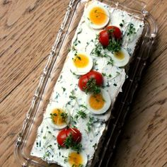 Beautiful filled Sandwich bread with smoked salmon, cream-cheese, and eggs.
