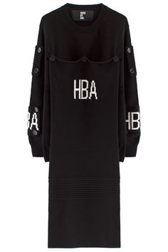HOOD BY AIRLONG BUTTON PATCH SWEATER
