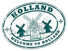 holland stamp: Holanda grunge rubber stamp Vectores
