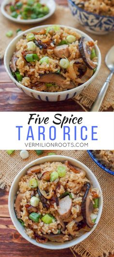 Malaysian Five Spice Taro Rice (vermilionroots.com). A vegan dish that comes together easily in the rice cooker or on the stovetop.