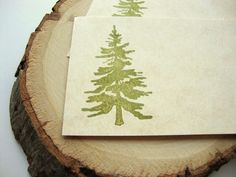 Pine Tree Placecards Rustic Country Wedding by papergirlstudios, $8.00