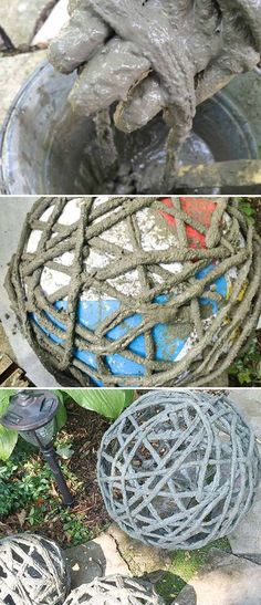 Simple Art and your Garden can look amazing. Garden globes will help your garden keep the good look all year long. You will Love this Calm and Cool DIY Garden Globes. Make Your Garden More Attractive! Read More. Garden Crafts, Diy Garden Decor, Garden Projects, Garden Art, Outdoor Garden Decor, Garden Decorations, Garden Spheres, Garden Balls, Garden Planters