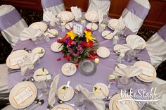 #wedding reception decorations #centerpieces #tablescapes #reception details #Michigan wedding #Mike Staff Productions #wedding details #wedding photography http://www.mikestaff.com/services/photography #summer #flowers #short centerpieces