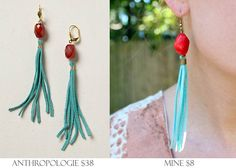 Gina Michele: diy anthropologie fringe earrings