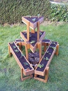Geometric Tiered Planter Made From Pallets