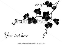 Orchid branch silhouette, example shape 1