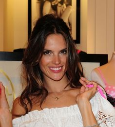 Alessandra Ambrosios wild and sexy hairstyle