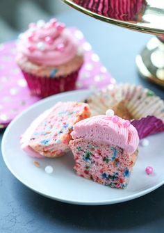 Strawberry Funfetti Cupcakes