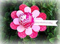 Lollipop Flower for Valentine's