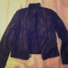 Miss Sixty  moto jacket Size M M60 jacket. In great condition worn only a few times.   📦better discounts with bundles📦 🎀be kind when making offers. Remember posh takes 20% commission on items priced $15 or higher and $2.95 for items priced under that 🎀  🚫PayPal 🚫trades  ❗️items $10 & under are firm unless bundled. 💃 if I'm not already modeling in the pictures that means I can't model. Sorry. Miss Sixty Jackets & Coats