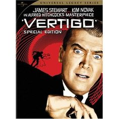 Jimmy Stewart, Vertigo by Alfred Hithcock
