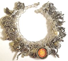 HUNGER++GAMES+Jewelry+Charm+Bracelet+Catching+by+princessofscraps,+$36.99