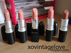 Nude lips are sooooo in and these are 4 really good MAC choices!