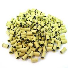 200 PCS 3.5 mm Blonde Color Copper Tubes Beads Locks Micro Rings for I Tipped Human Hair Extensions. Type: Micro Tubes. Color: Blonde. Material: Copper. Quantity: 200 pcs. Size: 3.5mm Diameter, Length: 6mm.