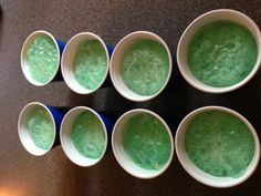 Creeper floats - scoop of vanilla ice cream, 7 Up with green food coloring added. #minecraft