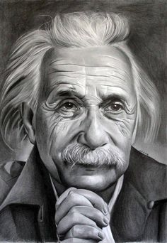 Albert Einstein 2 by donchild on DeviantArt Beautiful Pencil Drawings, Realistic Pencil Drawings, Pencil Art Drawings, Amazing Drawings, Art Drawings Sketches, Pencil Sketch Portrait, Pencil Sketch Drawing, Portrait Sketches, Portrait Art