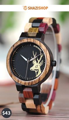 BOBO BIRD Quartz Watch Men reloj mujer Elk Engraving Wooden Women Watches  in Wood Box relogio masculino Great Gift for Lover 385c948b87a3