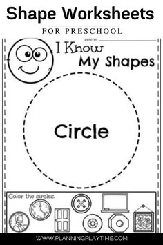 Shape Recognition and Tracing. - Preschool Shape Worksheet Activity Shape Worksheets For Preschool, Preschool Names, Shapes Worksheets, I Know, Student, Letters, Activities, Letter, Lettering