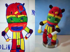 Attention #Moms: Wendy Tsao will take your child's drawing and turn it into a plush toy. Her gallery of work is amazing.