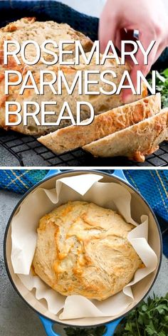 Do you want to make a savory herb and cheese bread from scratch? Well, we have a recipe for you! Try our homemade rosemary Parmesan bread recipe. Artisan Bread Recipes, Dutch Oven Recipes, Cooking Recipes, Breadmaker Bread Recipes, Bread Machine Recipes Healthy, Dutch Oven Desserts, Cornmeal Recipes, Italian Bread Recipes, Challah Bread Recipes