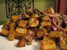 roasted potato salad w/ dijon caper vinaigrette