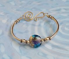 Purple and Blue Bangle by ToBeMeJewelry on Etsy