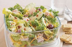 Be aware when packing this sweet salad made with apples, grapes, bacon and…
