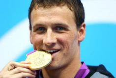 Ryan Lochte savors his first win, over Michael Phelps, at the London Olympics