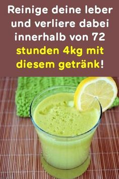 Reinige deine leber und verliere dabei innerhalb von 72 stunden mit diesem g… Clean your liver and lose within 72 hours with this drink! Healthy Diet Recipes, Healthy Drinks, Clean Your Liver, Wellness Shots, Goji, Keto, Detox Drinks, Herbal Remedies, How To Lose Weight Fast