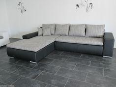 TOP MODERNES TRENDSOFA BETTSOFA SchlafCOUCH Sofa COuch Wohnlandschaft SCHWARZ