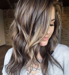 cool 65 Admirable Ideas on Brown Hair with Highlights-(2017) Top Hair Color