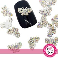 Butterfly Kisses - AB Crystal (2 per pack)
