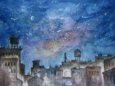 Resultado de imagem para watercolor cityscape