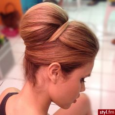 Structured updo to support hijab and dupatta