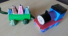 Ciuchcia Tomek i Dinozuar z rolki po papierze toaletowym