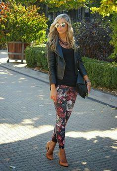 MysticalFashionChic: Animal print y flower print en leggings, faldas, s...