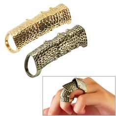Women\'s Girls Vintage Cool Full Finger Scroll Knuckle Ring; $1.61 US; this site is super affordable and has cool items!