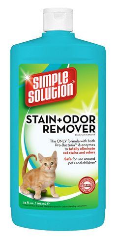 Simple Solutions Cat Stain and Odor Remover, 24-Ounce -- Click image to review more details. (This is an affiliate link and I receive a commission for the sales) #Cats
