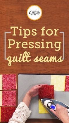 Dana Jones demonstrates step by step instructions on how to set your seams by pressing with a hot iron. Learn how to ensure the blocks in your quilts are the same size and your quilts finish strong and flat. Utilize these pressing techniques and see how beneficial pressing can be for your own quilts.