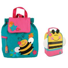 Stephen Jospeh BEE Backpack and Lunch Bag