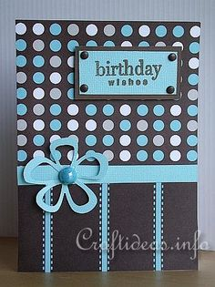 Another stripes & dots card