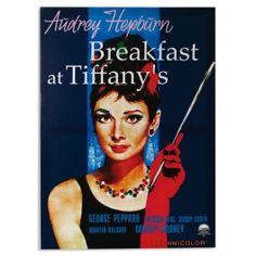 carteles de cine clasico Audrey Hepburn Desayuno con diamantes