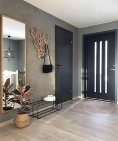 7882 Likes 102 Comments Malene Foss ( Entryway and Hallway Decorating Ideas Comments concrete Fos Foss husefjel Likes Malene Decoration Hall, Decoration Entree, Decor Room, Living Room Decor, Bedroom Decor, Home Decor, Bedroom Furniture, Hallway Decorating, Entryway Decor