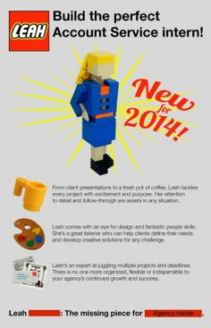 Gaaf, gewoon met lego solliciteren. Lees hier meer: http://www.dutchcowgirls.nl/online/7236